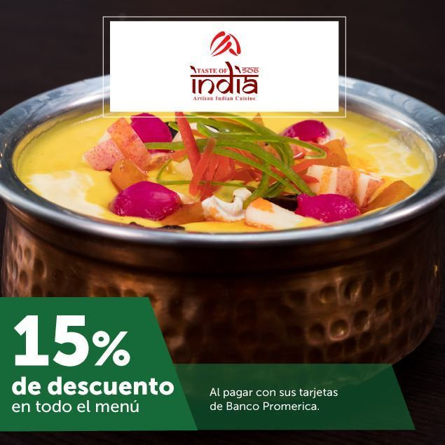 Foto de 15% de descuento en Taste of India- Escazú Village