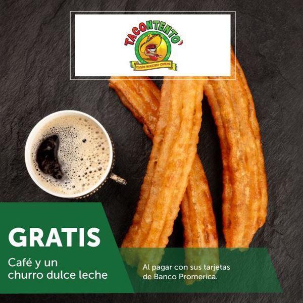 Foto de Gratis café y churro de dulce de leche en Tacontento