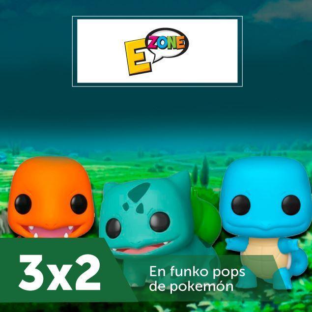 Foto de 3 x 2 en funko pops de pokemón en EZone