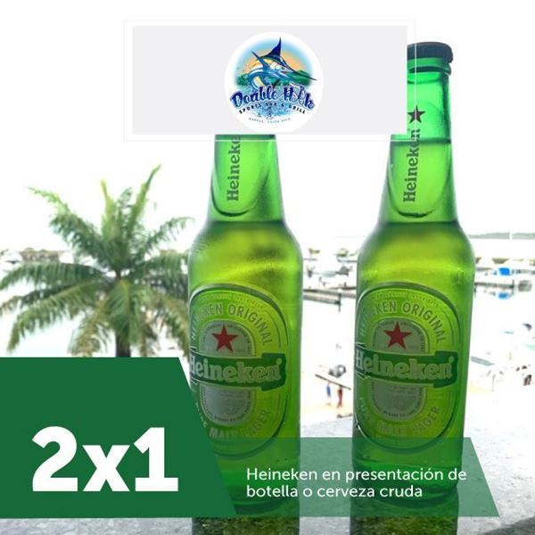 Foto de 2x1 en Heineken en botella o cerveza cruda en Double Hook