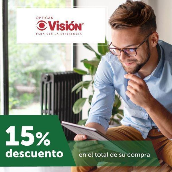 Foto de 15% DE DESCUENTO EN OPTICAS VISION