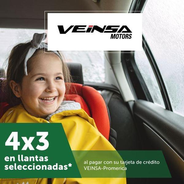 Foto de 4X3 en llantas seleccionadas de VEINSA