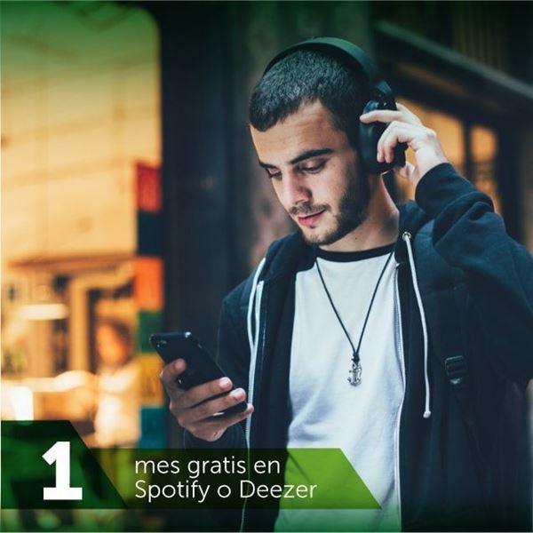 Foto de Spotify y Deezer