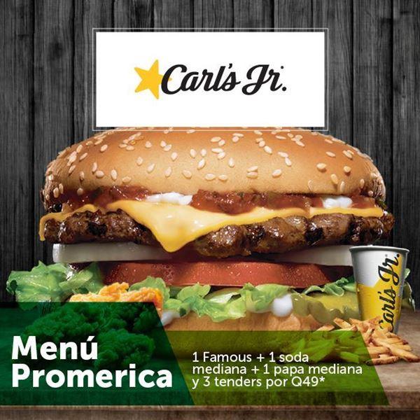 Foto de Menú Promerica en Carl´s Jr.