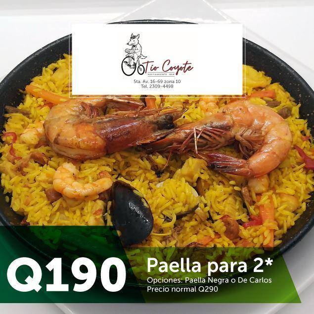 Foto de Paella para 2 por Q190 en Tío Coyote