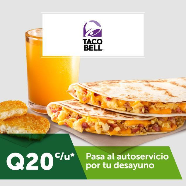 Foto de Combo de desayunos A.M. a Q20 c/u en Taco Bell