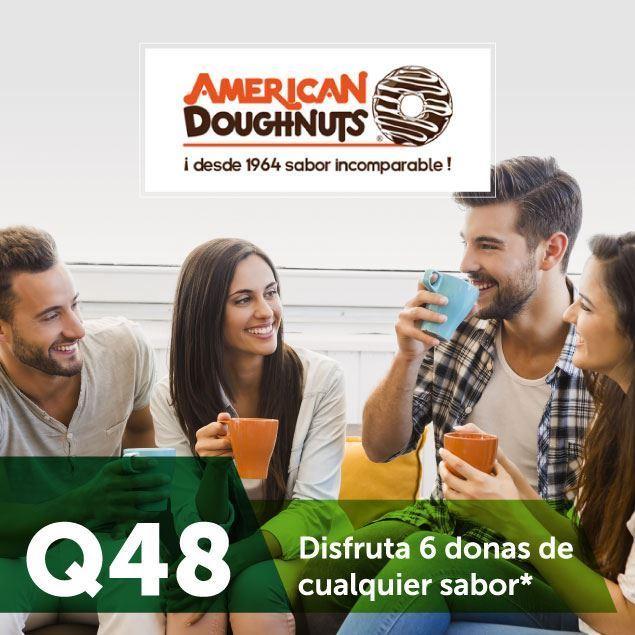Foto de 6 donas de anillo x Q48 en American Doughnuts