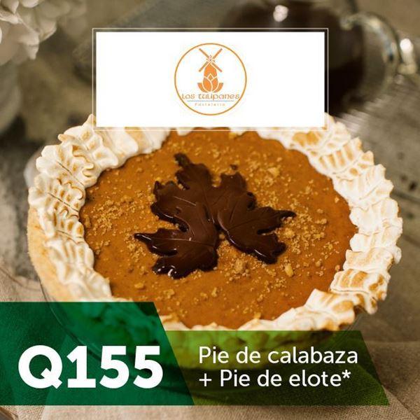 Foto de Pie de calabaza + Pie de elote por Q155  en Los Tulipanes