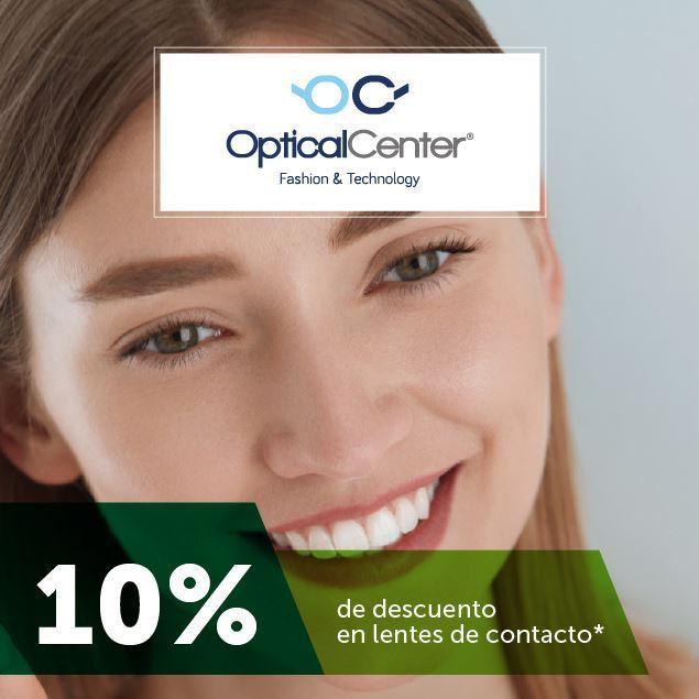 10%  de descuento  en lentes de contacto Óptica Center