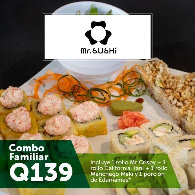 Foto de Combo Familiar en Mr. Sushi por Q139