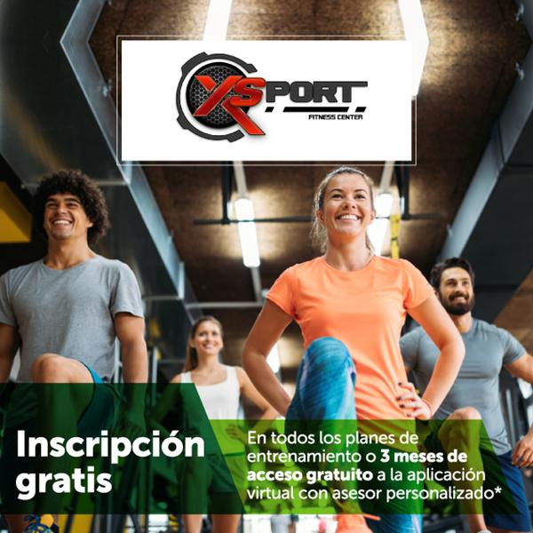 Inscripción gratis en todos los planes  en XSport