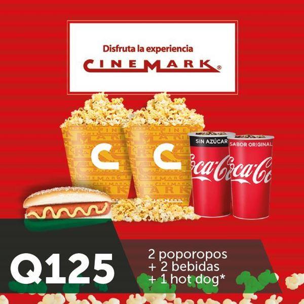 Foto de combo para compartir  a Q125 en Cinemark