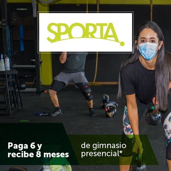 Foto de Gimnasio presencial, Paga 6 y recibe 8 meses en Sporta
