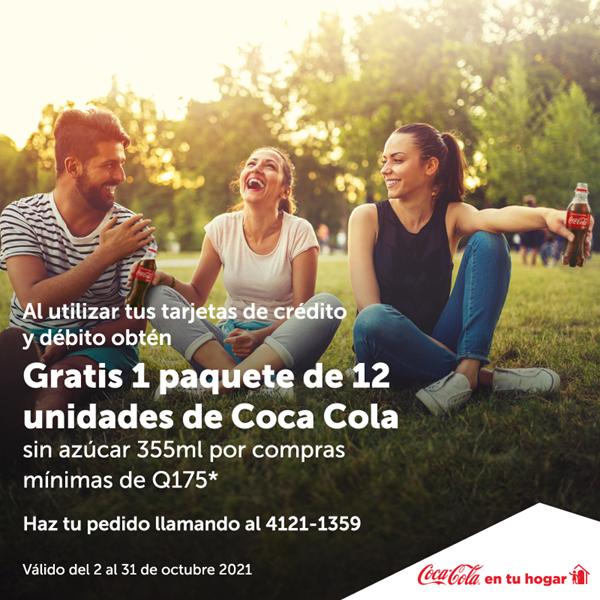 Foto de Coca Cola en tu HOGAR,  Gratis 1 paquete de 12 unidades.