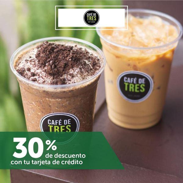 Foto de 30% de descuento en CAFÉ DE TRES