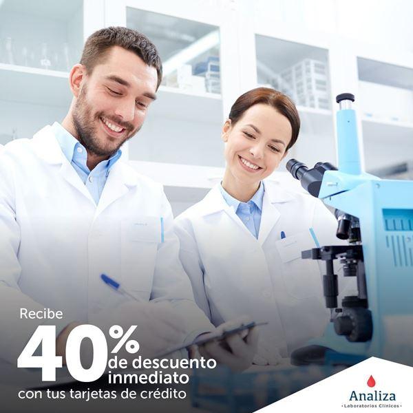 Foto de 40% de descuento en Laboratorios Analiza