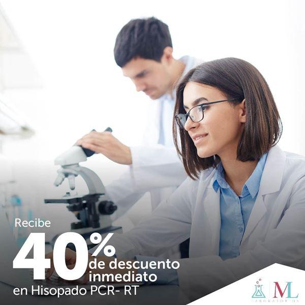 Foto de 40% de descuento en PCR RT en ML Laboratorios