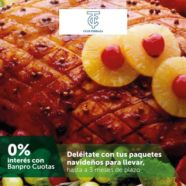 Foto de Hasta 3 meses sin intereses en los paquetes de cena navideña de CLUB TERRAZA