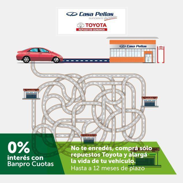Foto de Mantén tu vehículo original y paga hasta a 12 meses de plazo en CASA PELLAS REPUESTOS