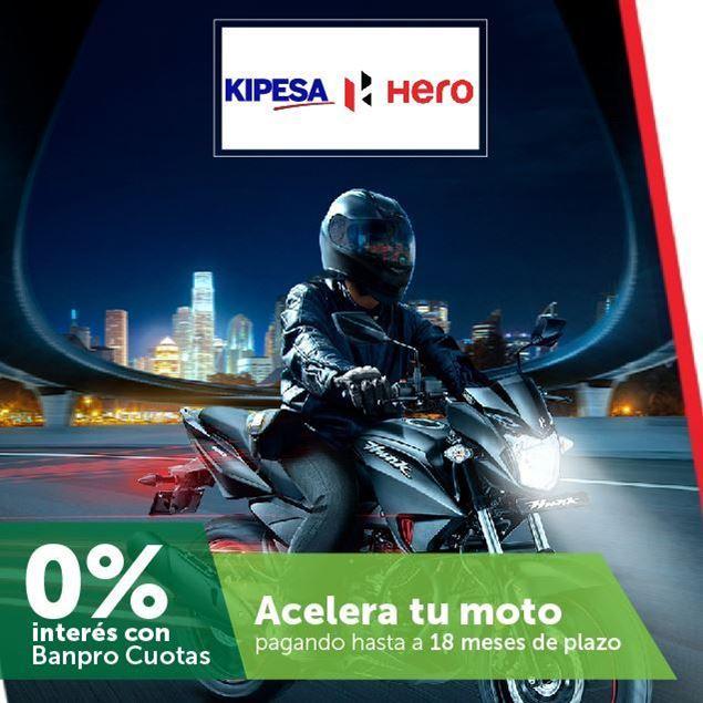 Foto de Compra tu moto HERO y págala hasta a 18 meses de plazo en KIPESA