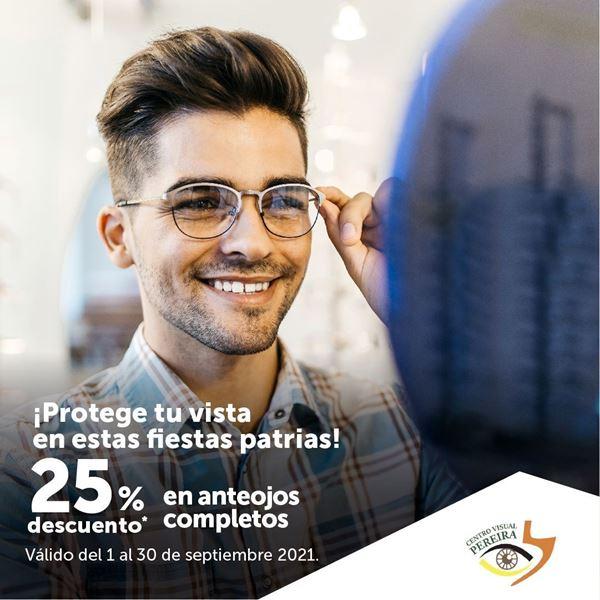 Foto de 25% de descuento en anteojos completos del Centro Visual Pereira