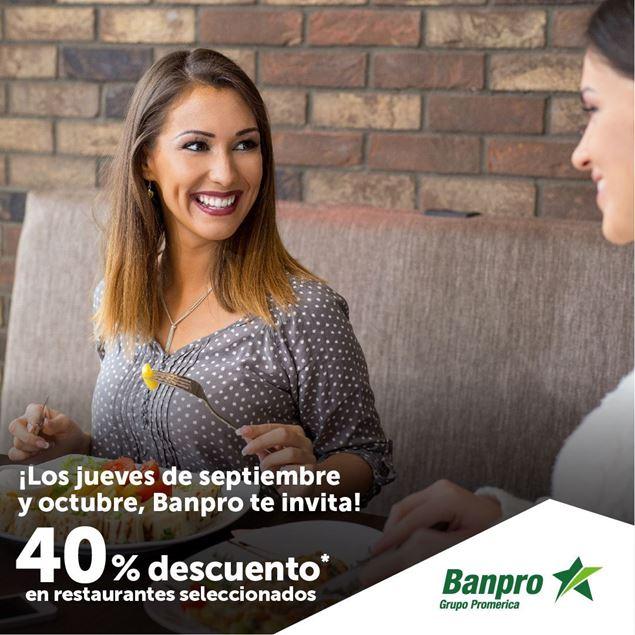 Foto de 40% de descuento en restaurantes seleccionados los jueves de septiembre y octubre