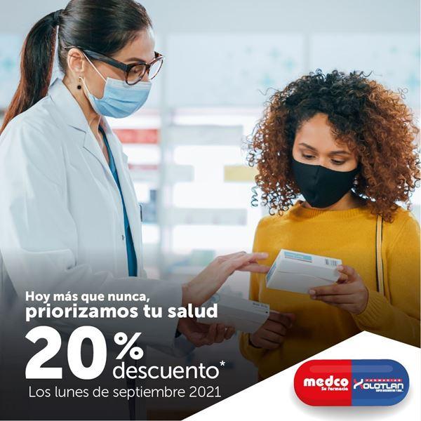 20% de descuento en farmacias Medco y Xolotlán