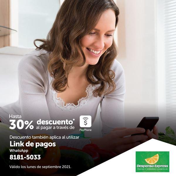 Hasta 30% de descuento al pagar con PayPhone en Despensa Express
